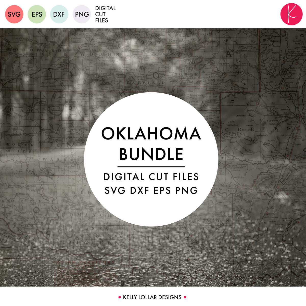 Oklahoma State Bundle | SVG DXF EPS PNG Cut Files