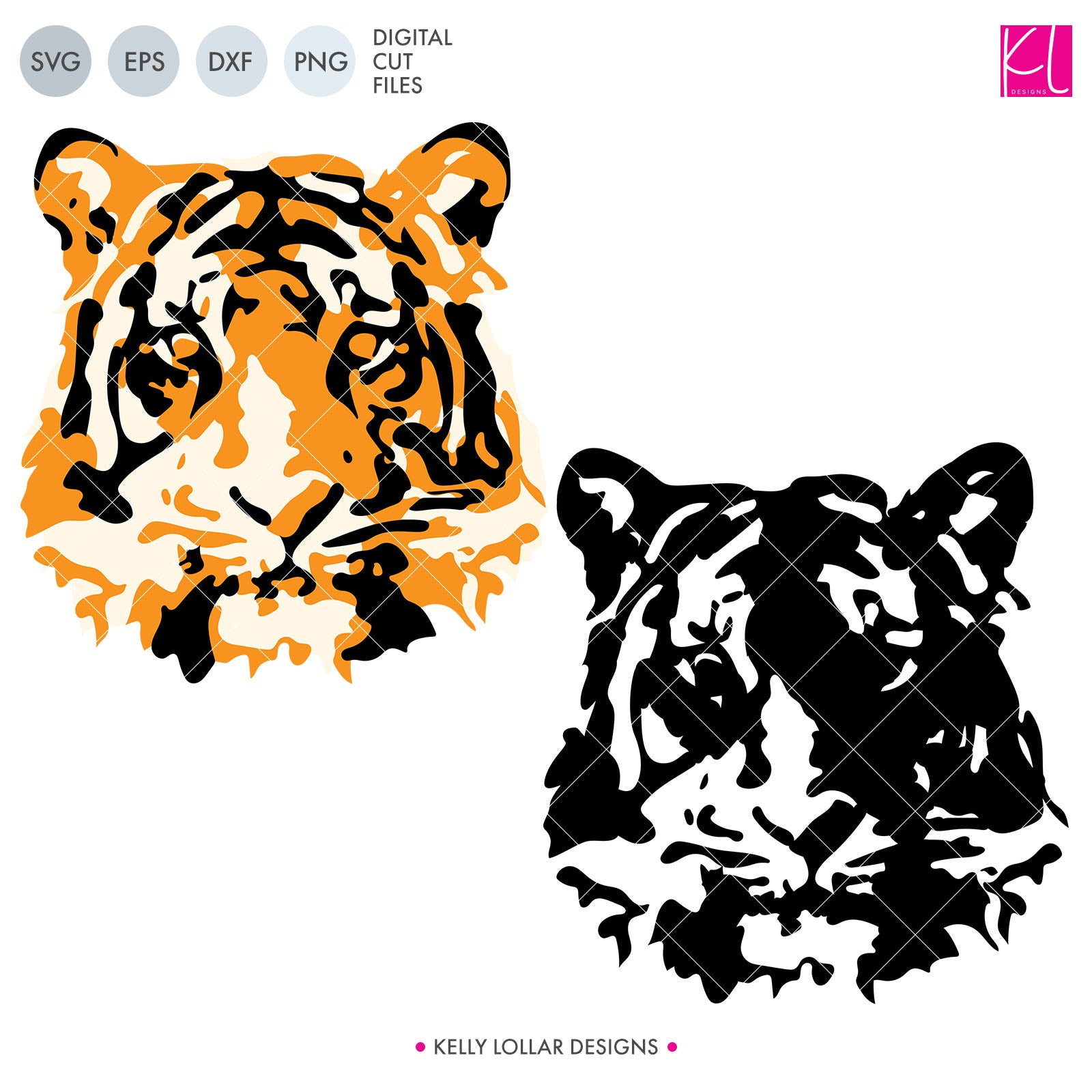 Watercolor Tiger | SVG DXF EPS PNG Cut Files