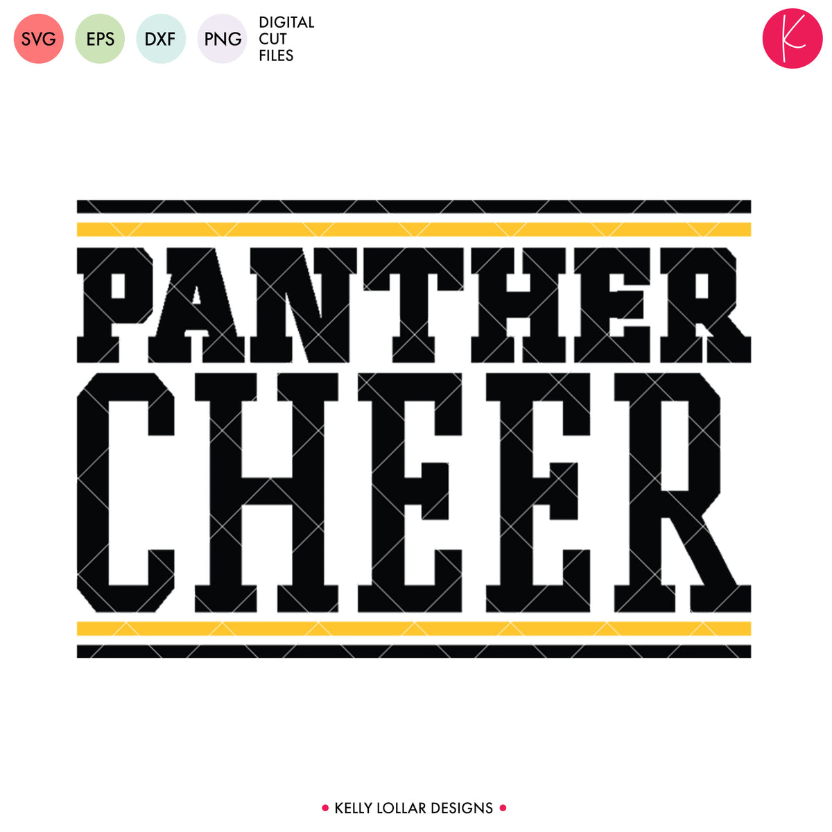 Panthers Cheer Bundle | SVG DXF EPS PNG Cut Files