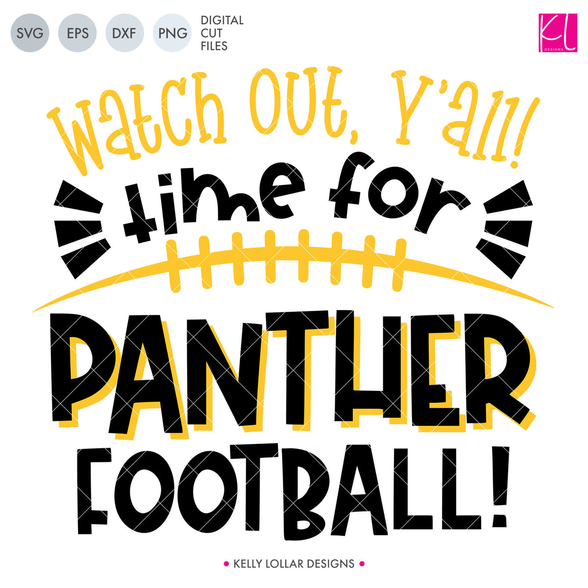 Panthers Football Bundle | SVG DXF EPS PNG Cut Files