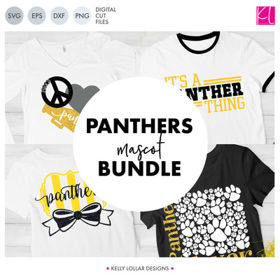 Panthers Mascot Bundle | SVG DXF EPS PNG Cut Files