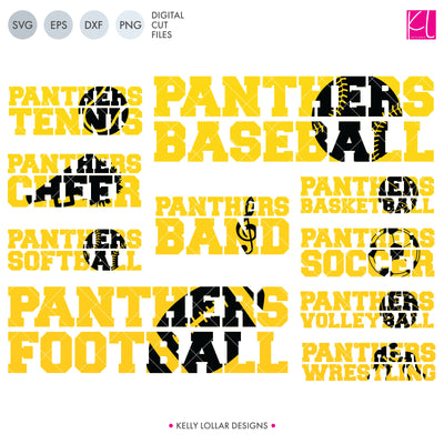 Panther Sports Pack | SVG DXF EPS PNG Cut Files