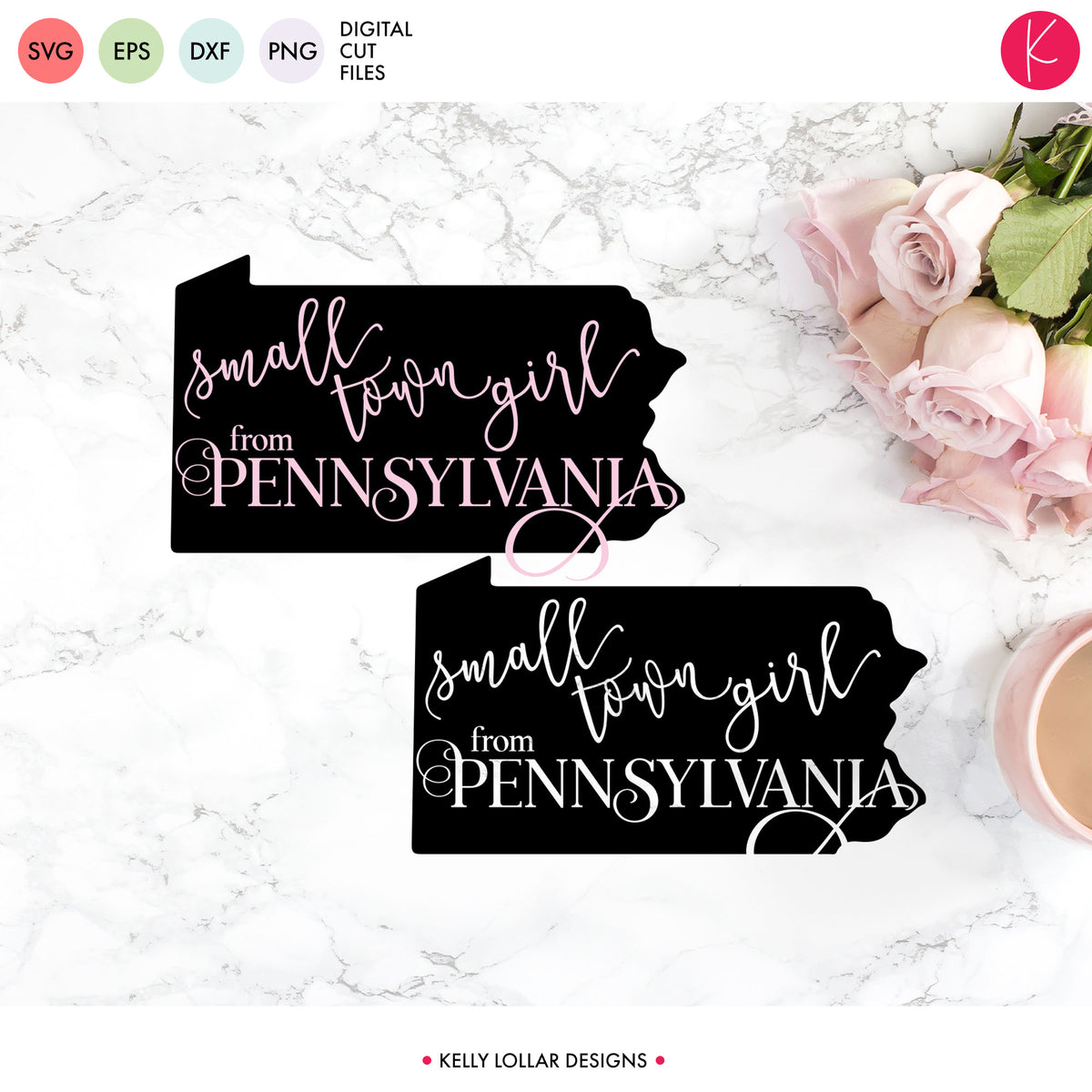 Pennsylvania State Bundle | SVG DXF EPS PNG Cut Files