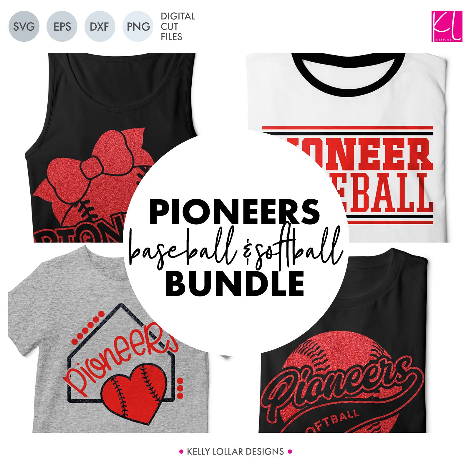 Pioneers Baseball & Softball Bundle | SVG DXF EPS PNG Cut Files