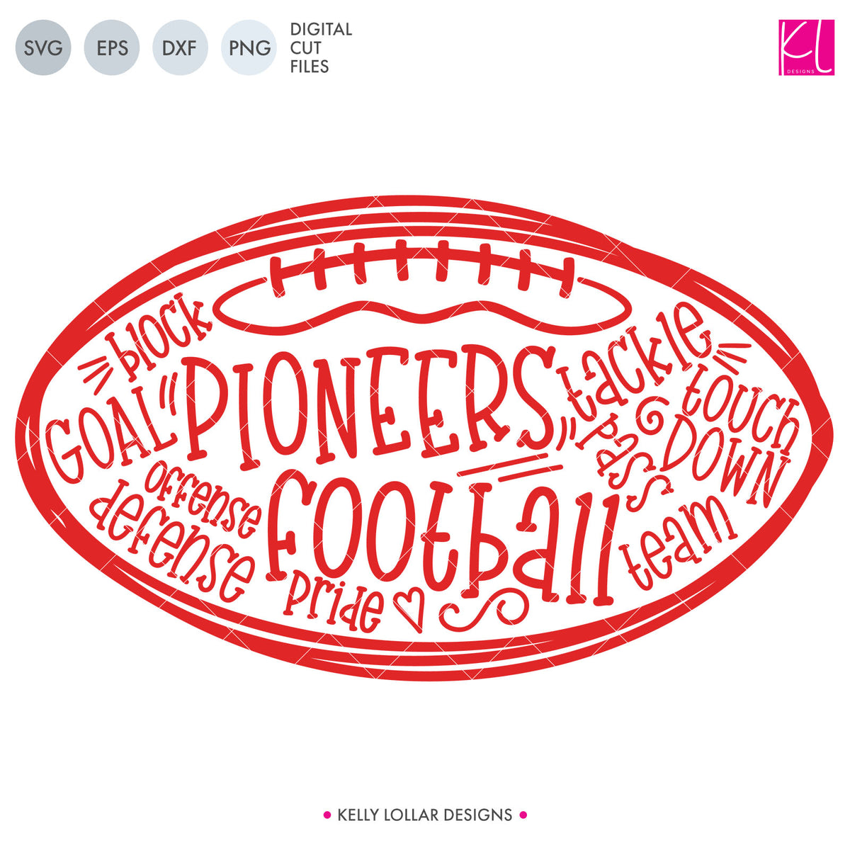 Pioneers Football Bundle | SVG DXF EPS PNG Cut Files