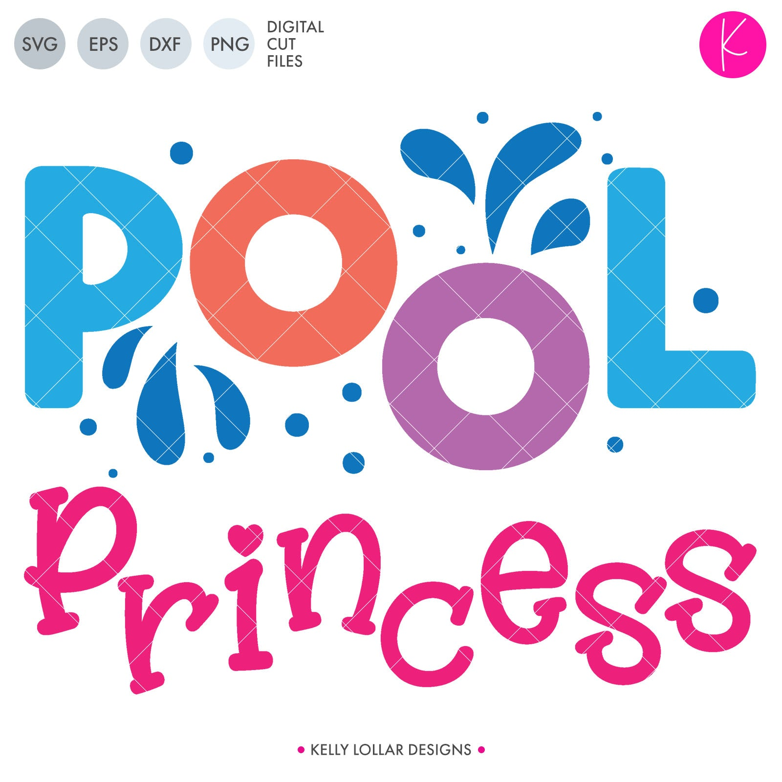 Pool Princess | SVG DXF EPS PNG Cut Files