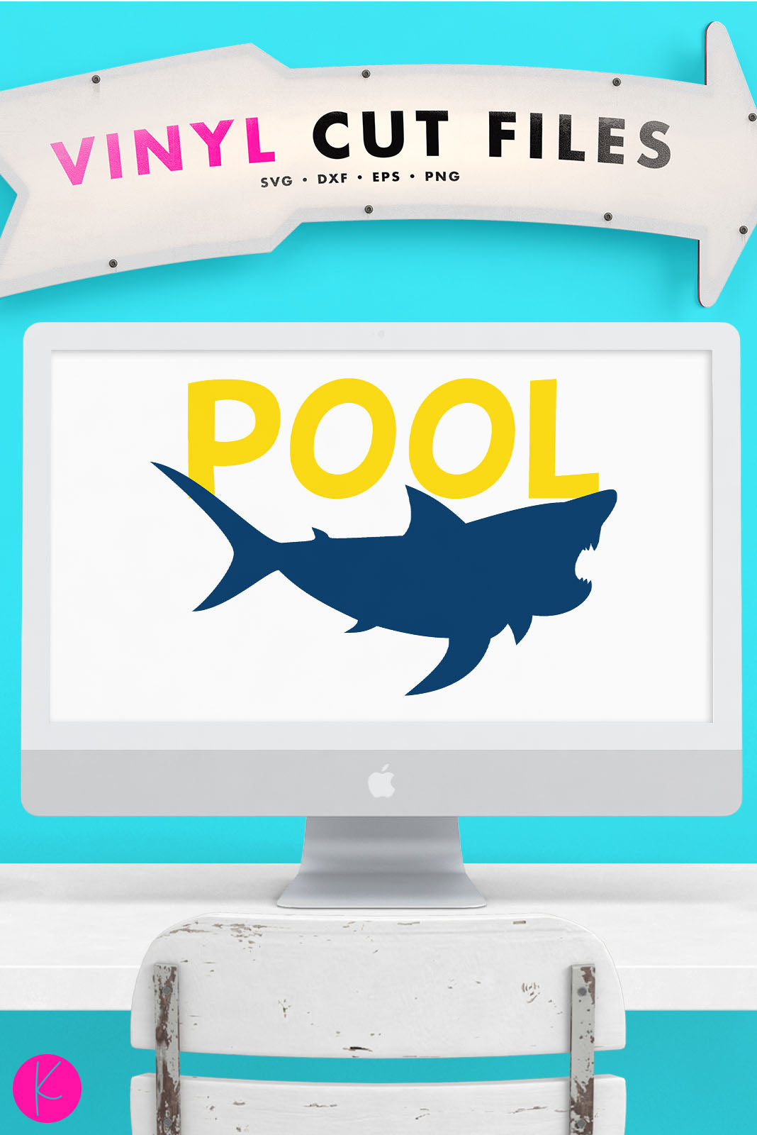 Pool Shark | SVG DXF EPS PNG Cut Files