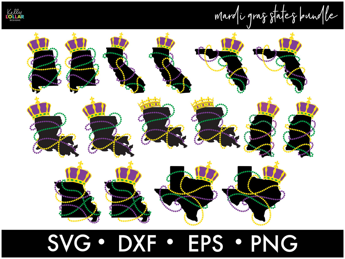 All the States Bundle | SVG DXF EPS PNG Cut Files