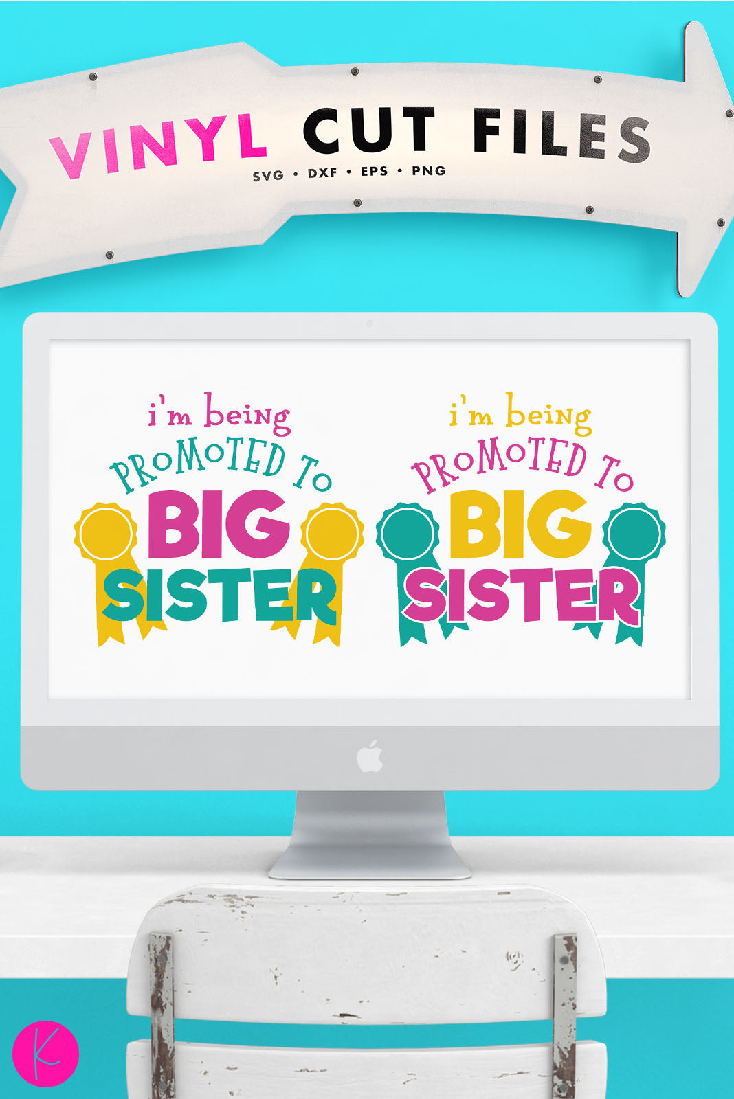 I'm Being Promoted to Big Sister | SVG DXF EPS PNG Cut Files Big Sister Announcement Shirt Design with Award Ribbons | SVG DXF EPS PNG Cut Files Pregnancy announcement shirt design for the soon to be Big Sister.I'm Being Promoted to Big Sister svg is