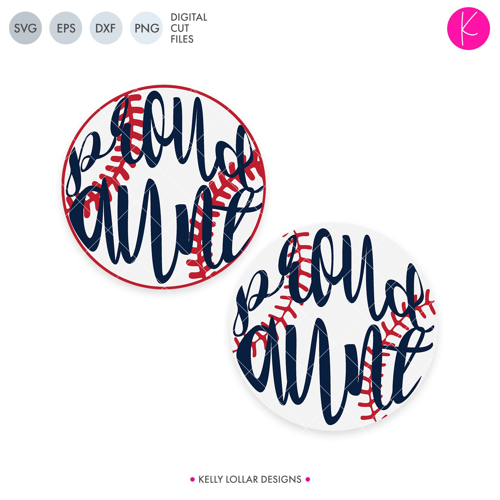 Proud Family Baseball / Softball SVG Cut Files Baseball or Softball with Proud Family Member's Name in Script for the Women and Print for the Men | SVG DXF PNG Cut Files Choose from individual files or the