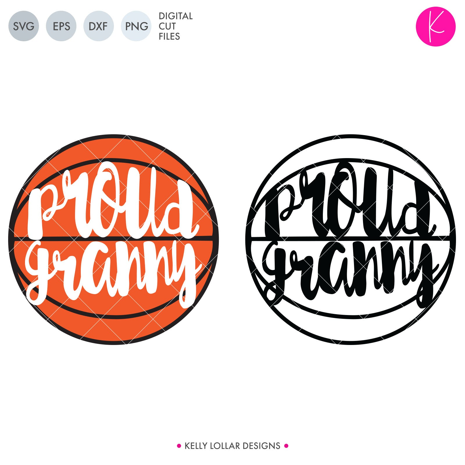 Proud Basketball Family | SVG DXF EPS PNG Cut Files Basketball with Proud Family Member's Name in Script for the Women and Print for the Men | SVG DXF PNG Cut Files Choose from individual files or the whole bundle INDIVIDUAL