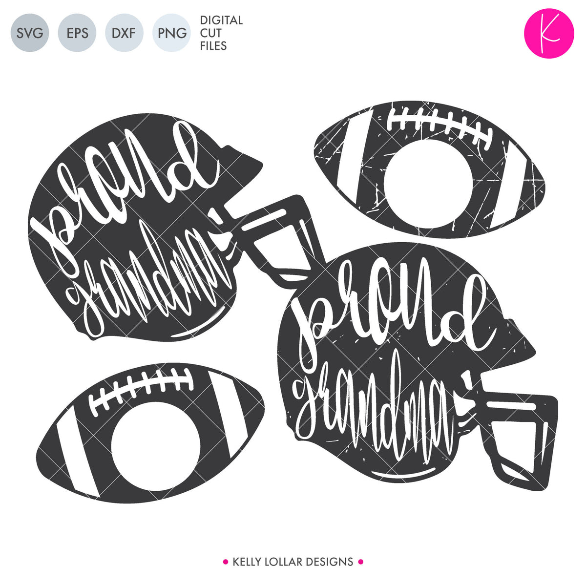 Proud Family Football Helmets | SVG DXF EPS PNG Cut Files