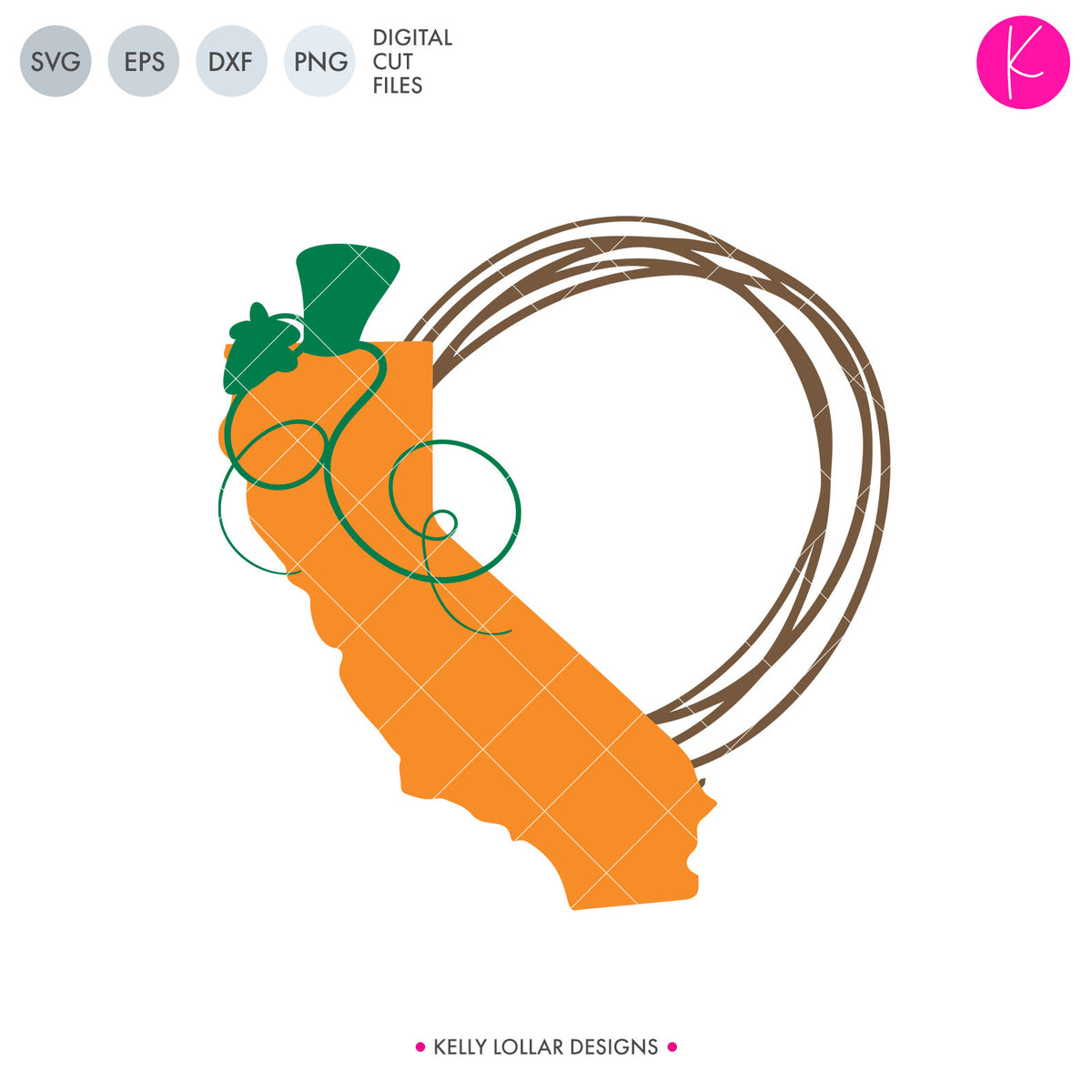 California State Bundle | SVG DXF EPS PNG Cut Files