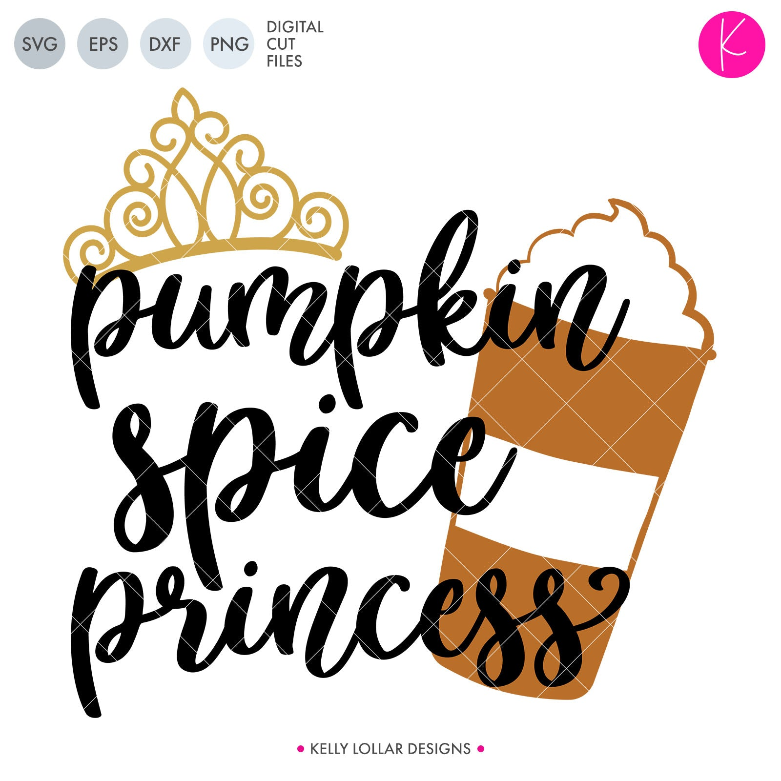 Pumpkin Spice Queen and Princess | SVG DXF EPS PNG Cut Files Fall Quote with Pumpkin Spice Latte and Crown for Shirts | SVG DXF EPS PNG Cut Files Oooo it's pumpkin spice season again!!! Celebrate with a cute new mommy and