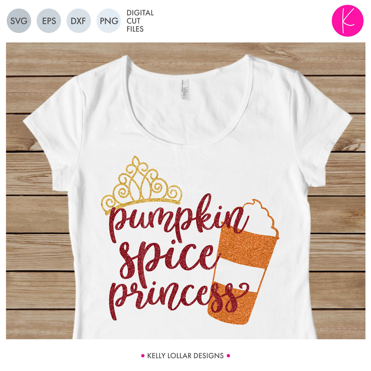Pumpkin Spice Queen and Princess | SVG DXF EPS PNG Cut Files