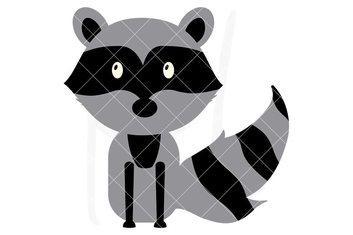 Raccoon svg file with 3 layers - also part of the Woodland Animal svg bundle