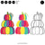 Rainbow Stacked Pumpkins  | SVG DXF EPS PNG Cut Files