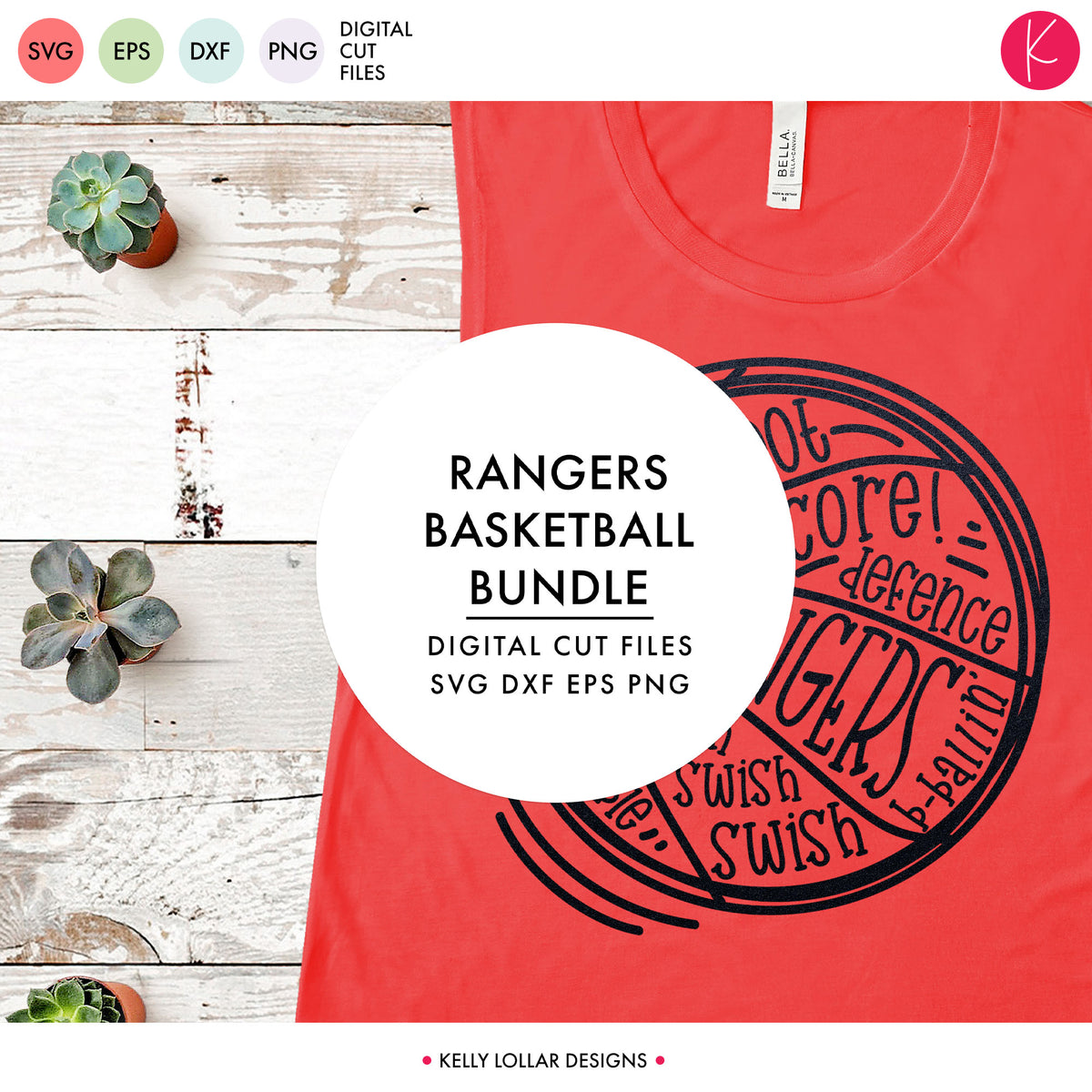 Rangers Basketball Bundle | SVG DXF EPS PNG Cut Files