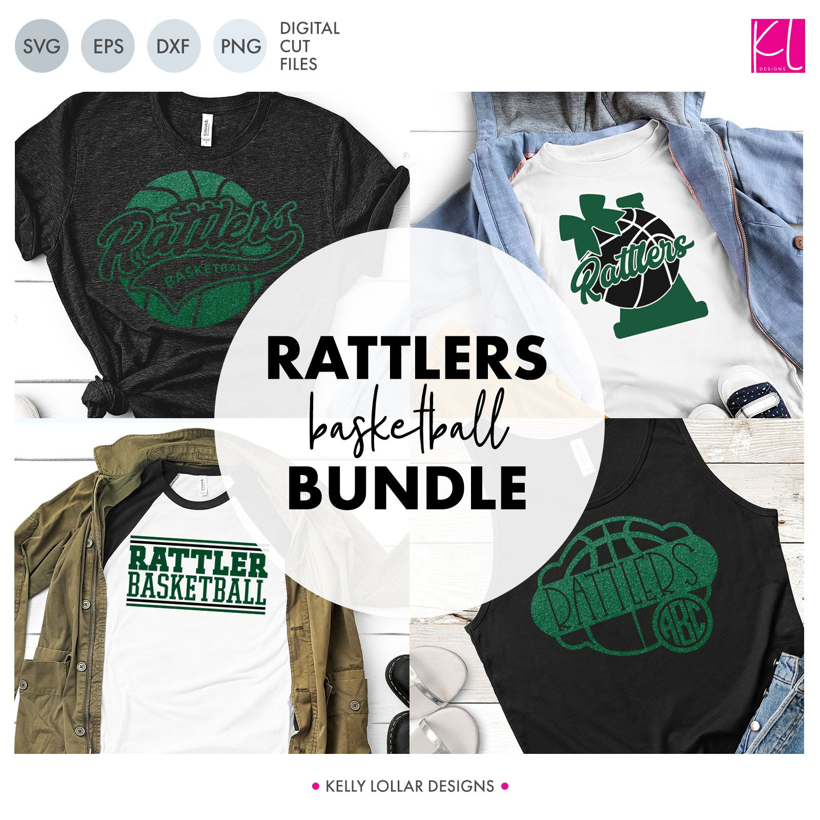Rattlers Basketball Bundle | SVG DXF EPS PNG Cut Files