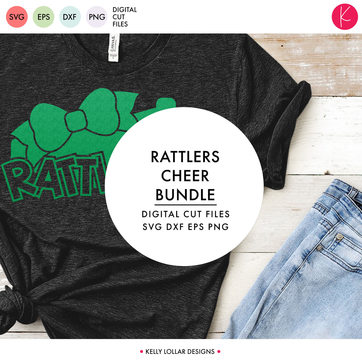 Rattlers Cheer Bundle | SVG DXF EPS PNG Cut Files