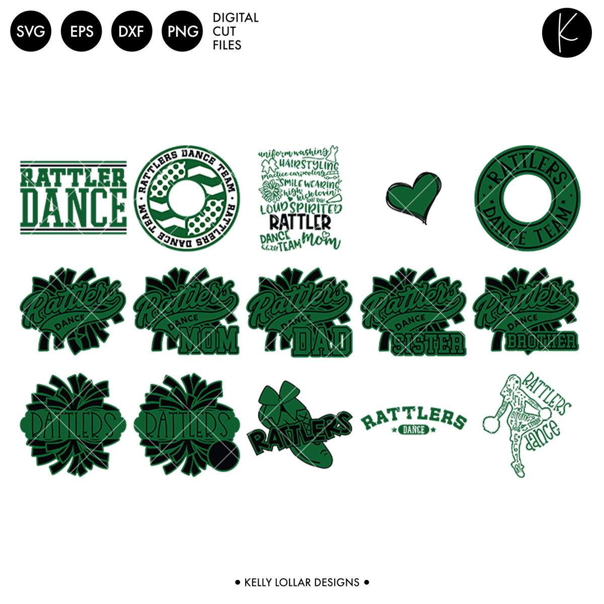 Rattlers Dance Bundle | SVG DXF EPS PNG Cut Files