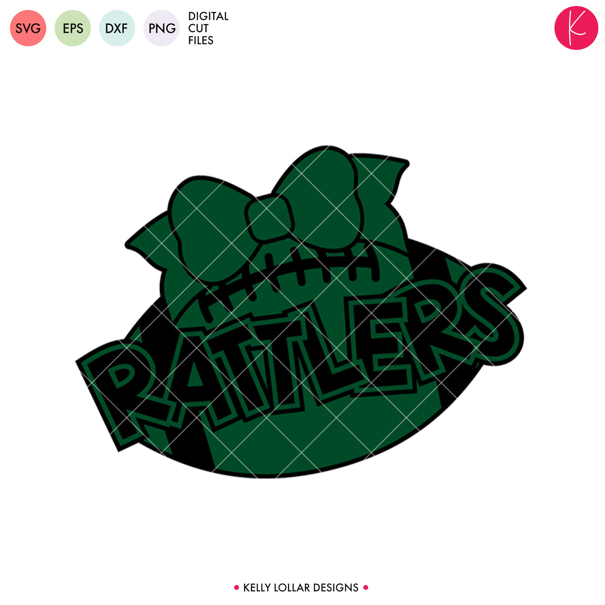 Rattlers Football Bundle | SVG DXF EPS PNG Cut Files