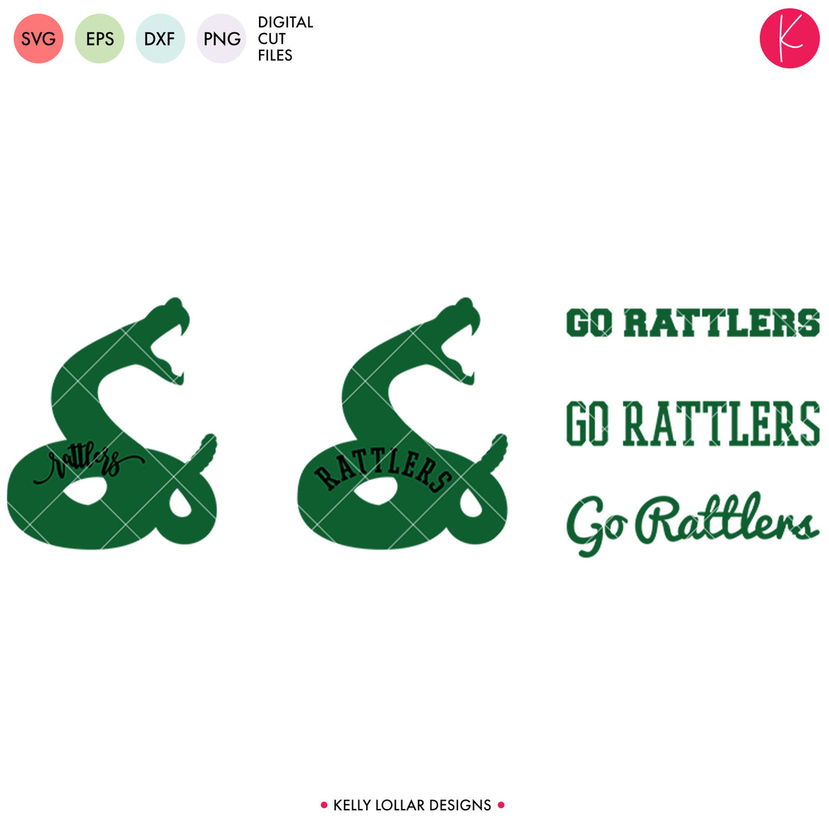 Rattlers Mascot Bundle | SVG DXF EPS PNG Cut Files