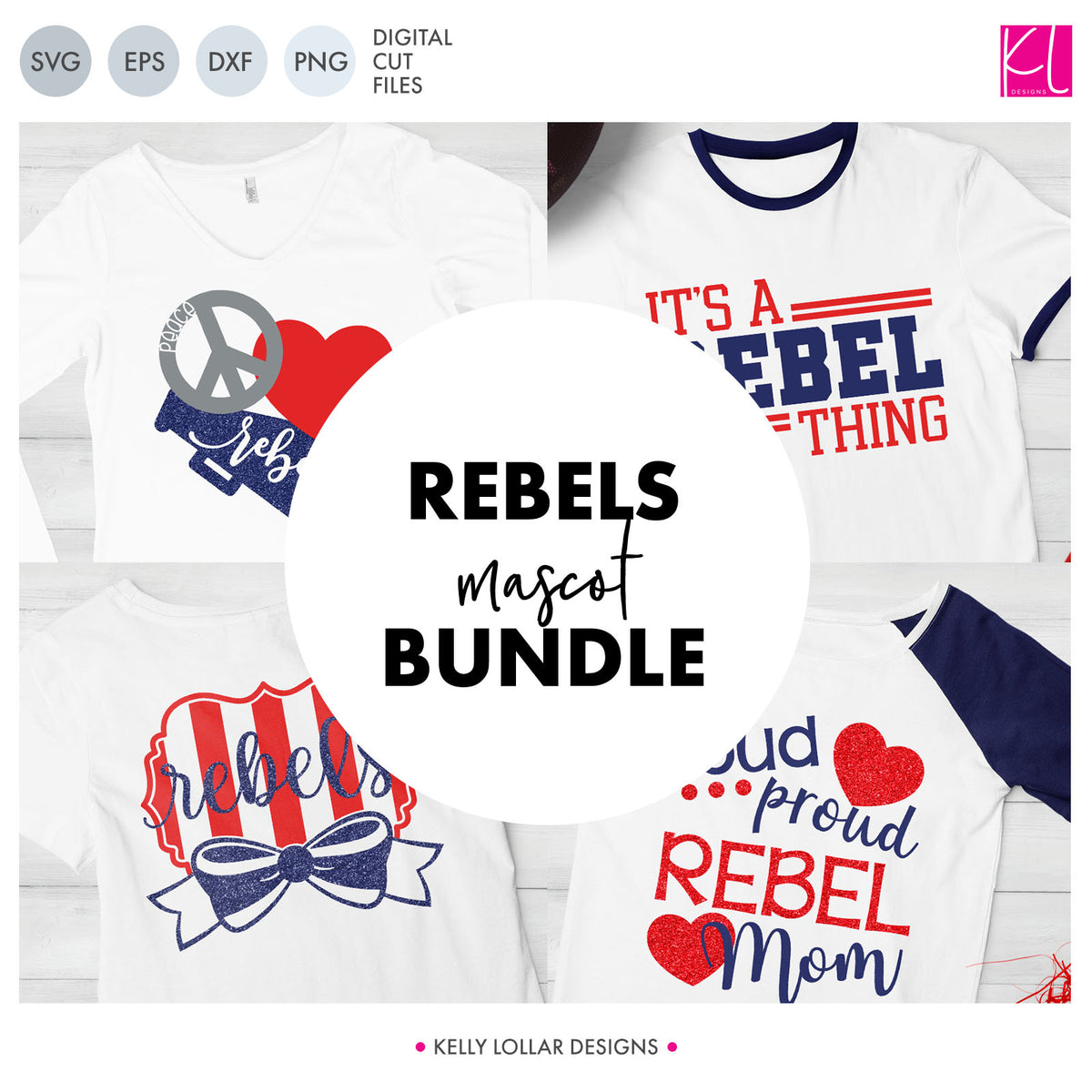 Rebels Mascot Bundle | SVG DXF EPS PNG Cut Files