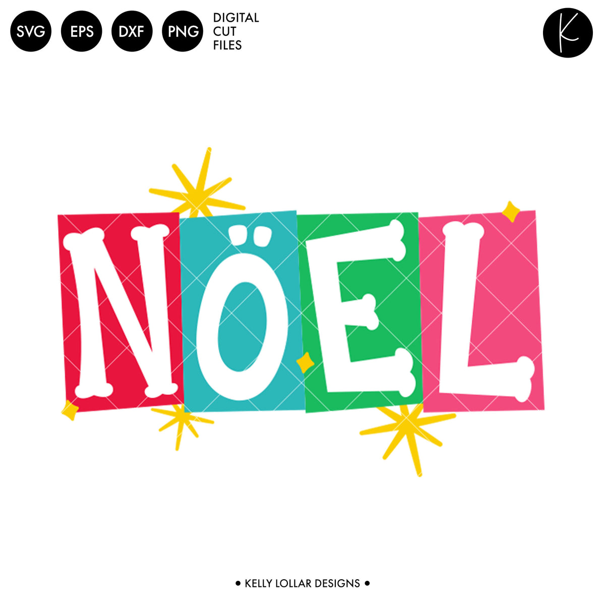 Noel Retro Quote | SVG DXF EPS PNG Cut Files