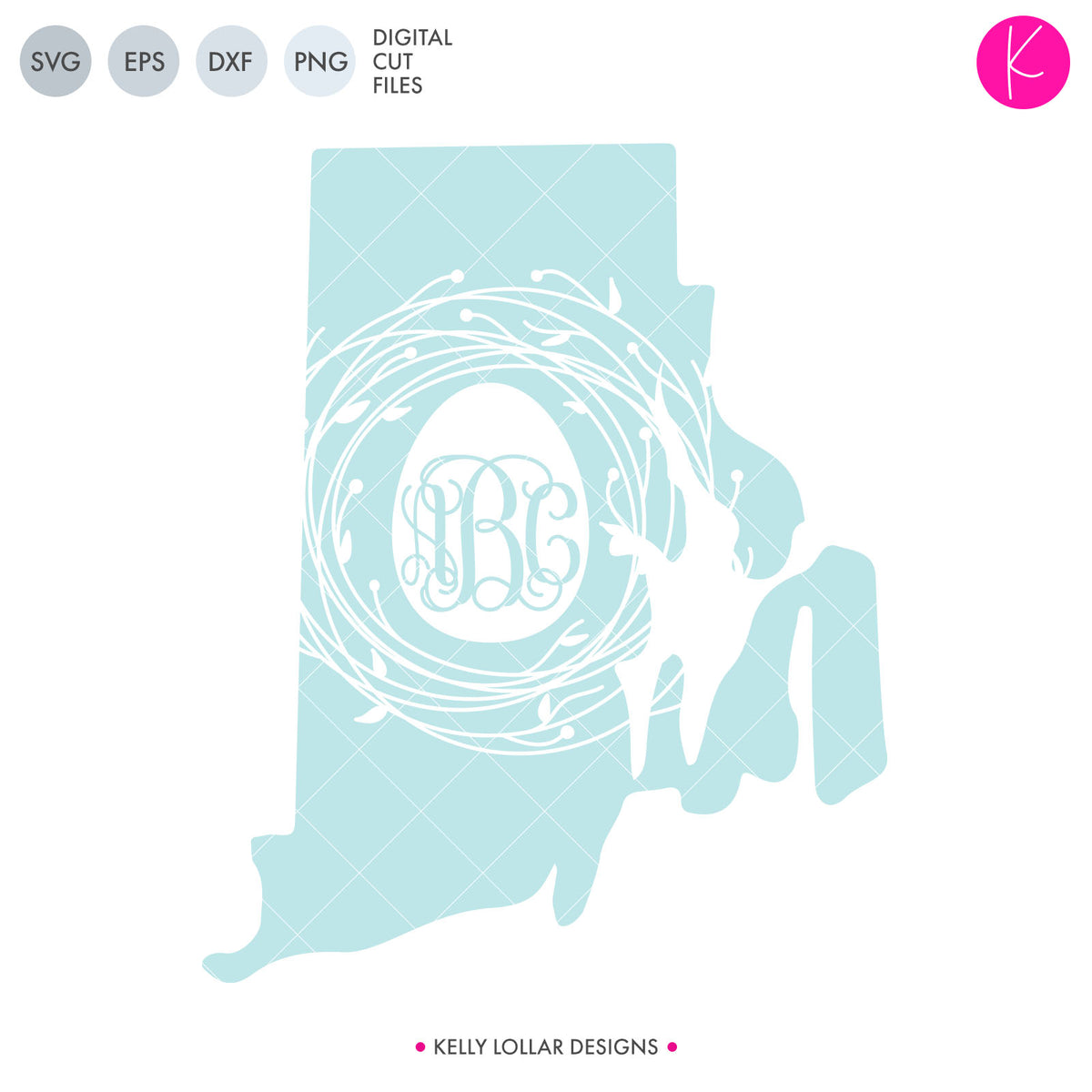 Rhode Island State Bundle | SVG DXF EPS PNG Cut Files