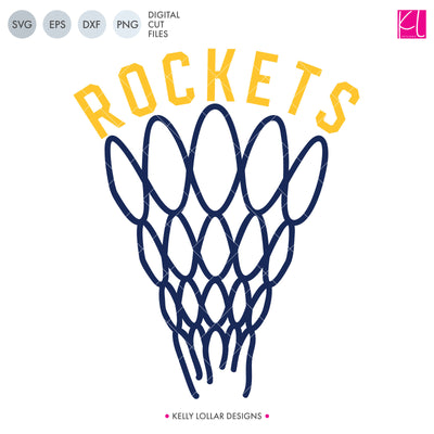 Rockets Basketball Bundle | SVG DXF EPS PNG Cut Files