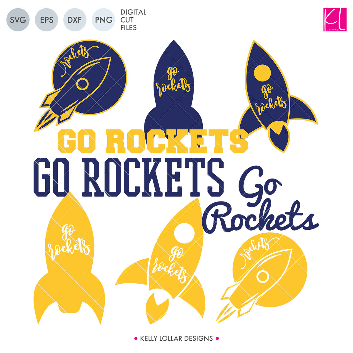 Rockets Mascot Bundle | SVG DXF EPS PNG Cut Files
