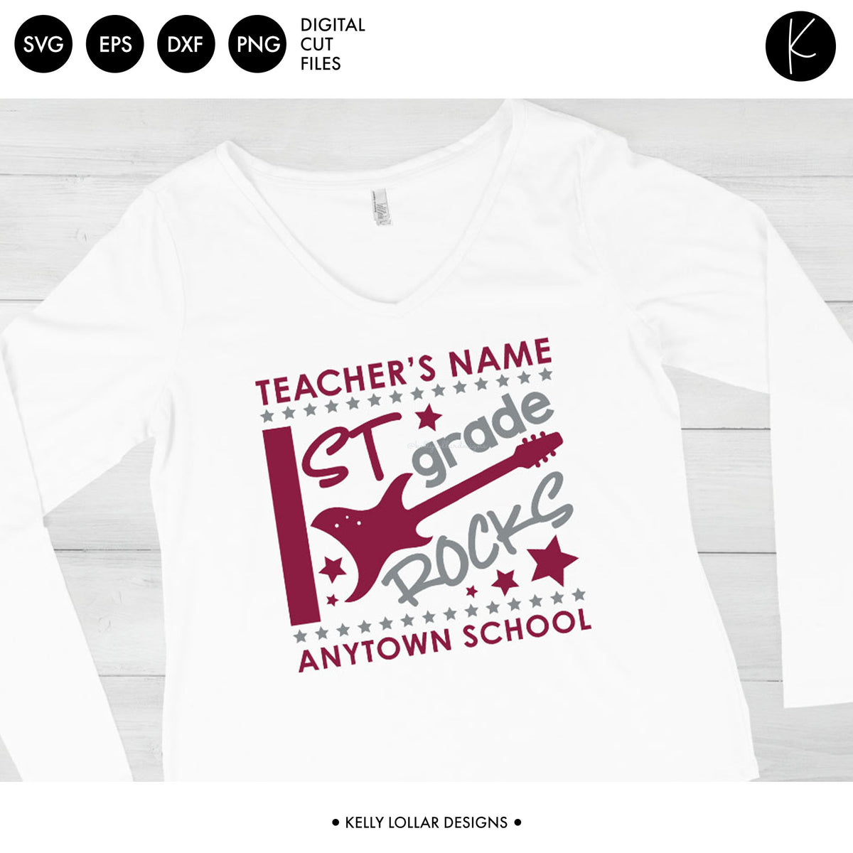 Rock n Roll Class Shirt | SVG DXF EPS PNG Cut Files