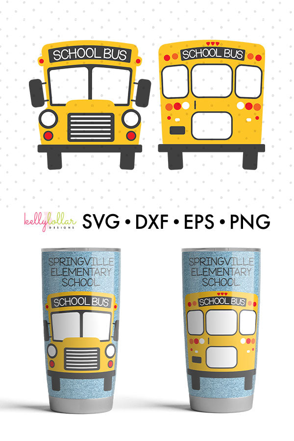 School Bus | SVG DXF EPS PNG Cut Files
