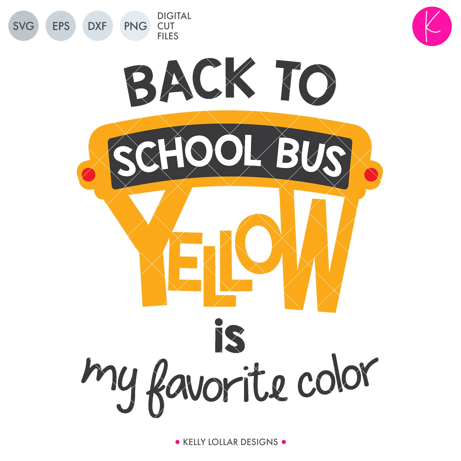 School Bus Yellow | SVG DXF EPS PNG Cut Files