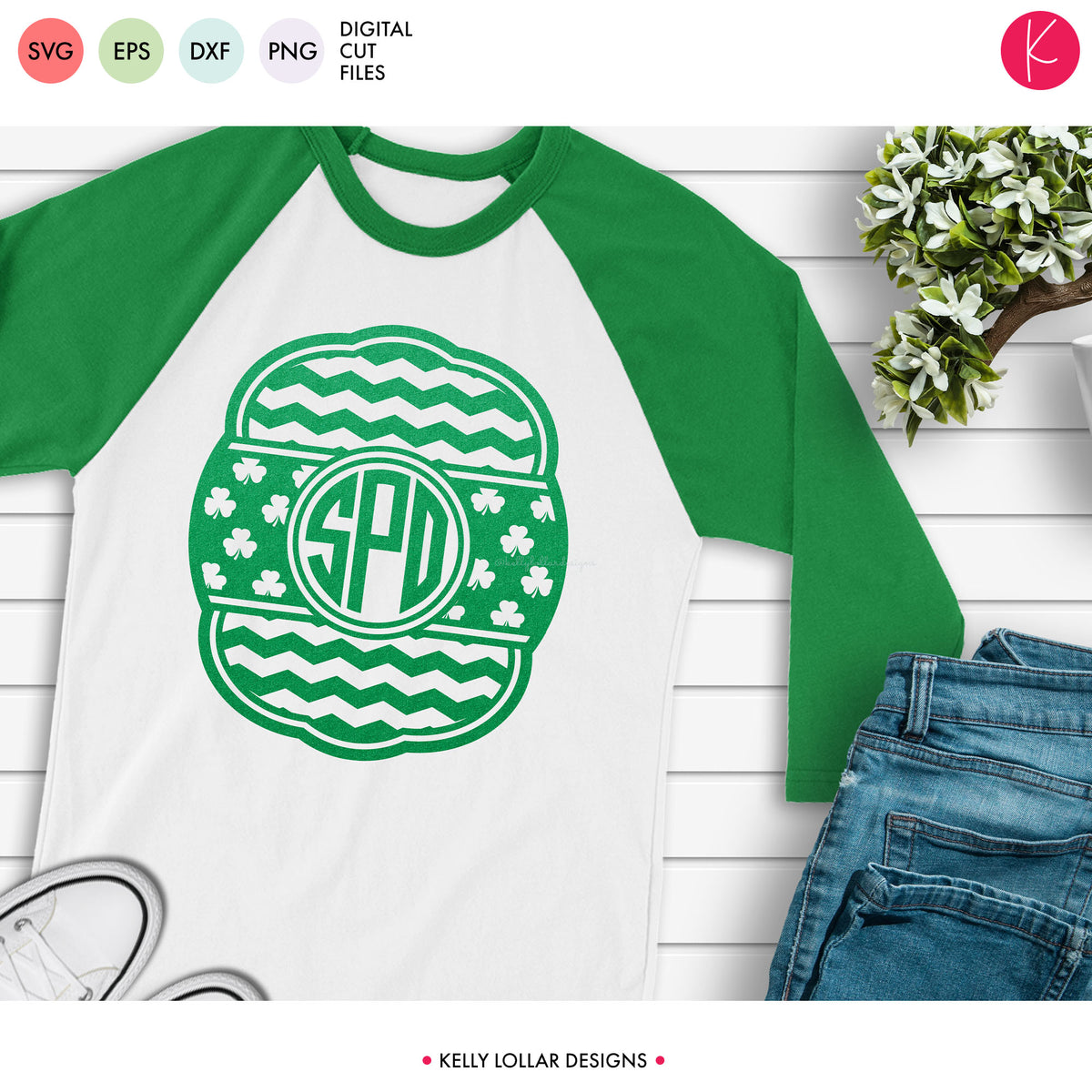 Shamrock Bar Monogram Frames | SVG DXF EPS PNG Cut Files