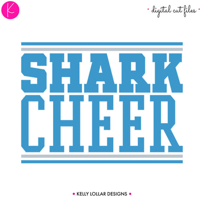 Sharks Cheer Bundle | SVG DXF EPS PNG Cut Files
