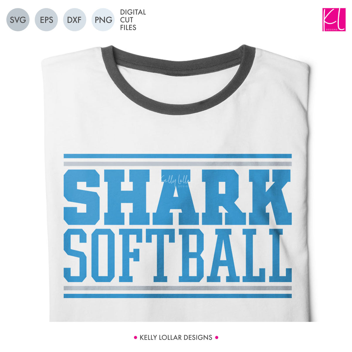 Sharks Baseball & Softball Bundle | SVG DXF EPS PNG Cut Files