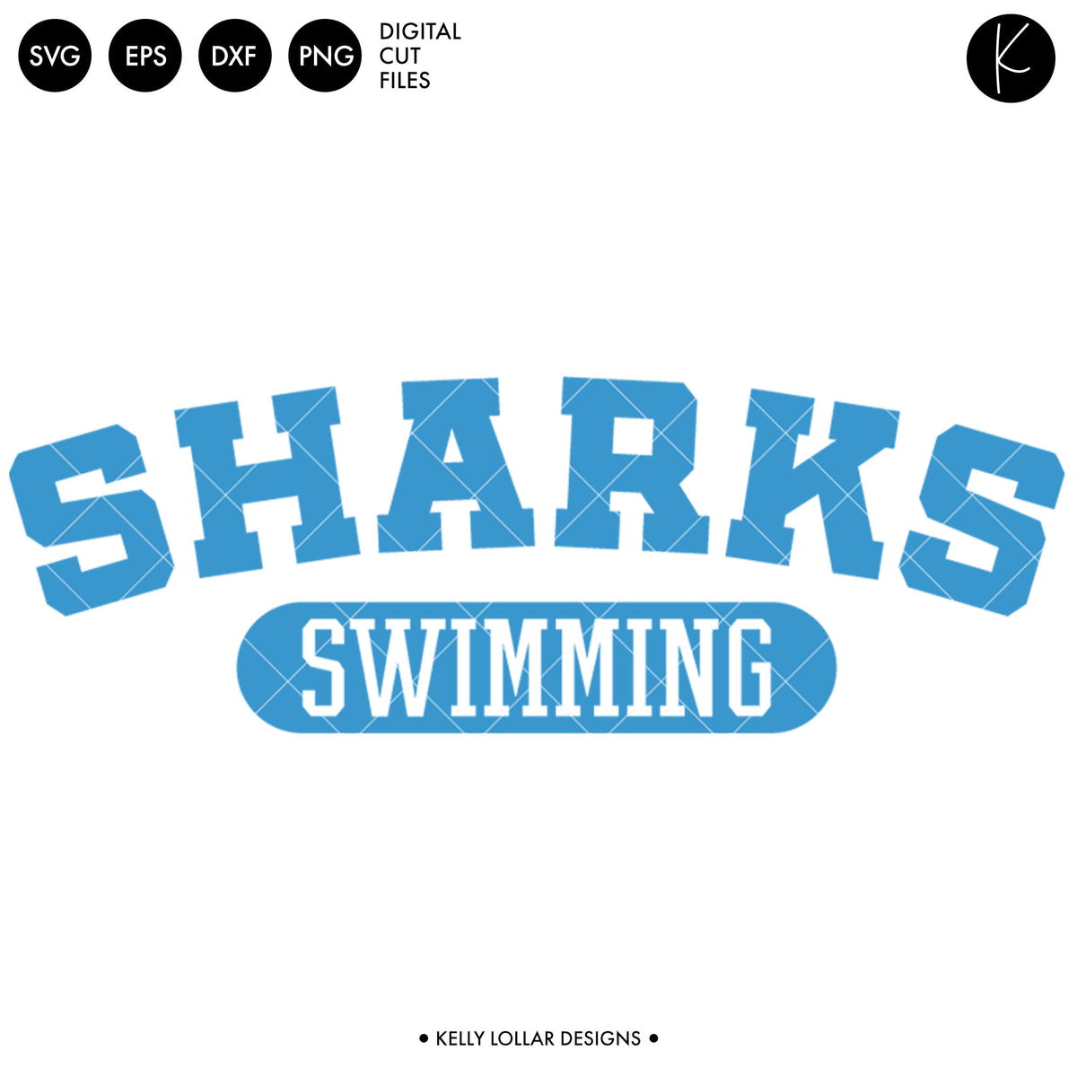 Sharks Swim Bundle | SVG DXF EPS PNG Cut Files