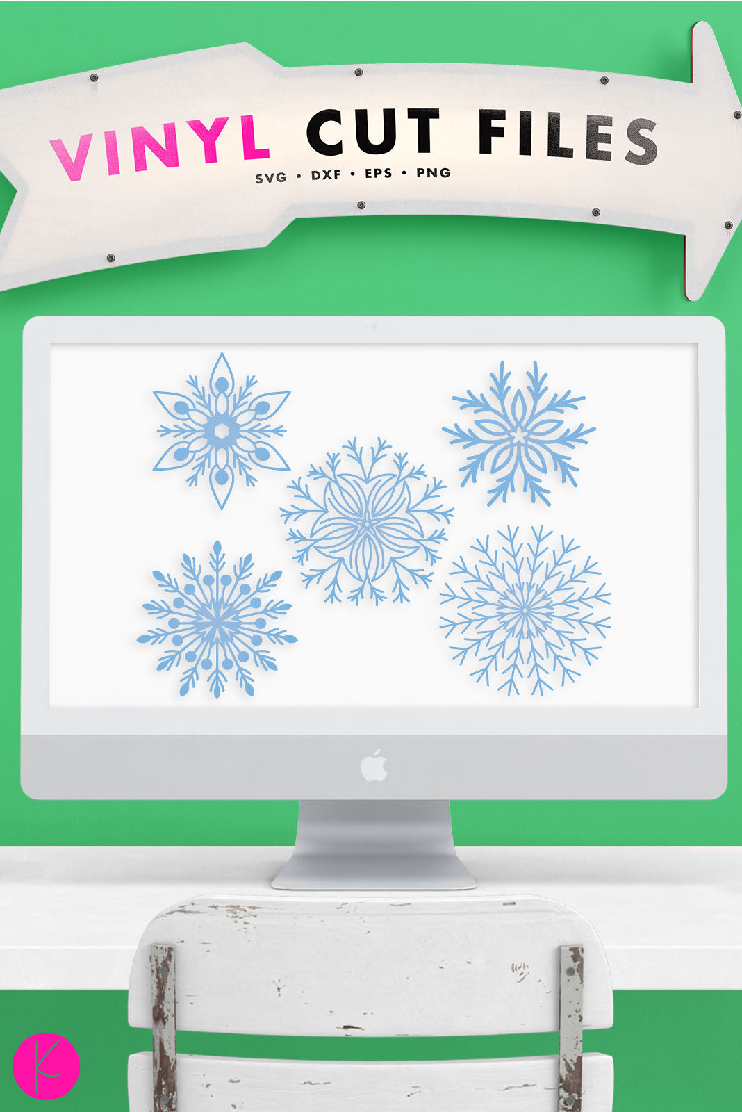 Snowflake Pack | SVG DXF EPS PNG Cut Files