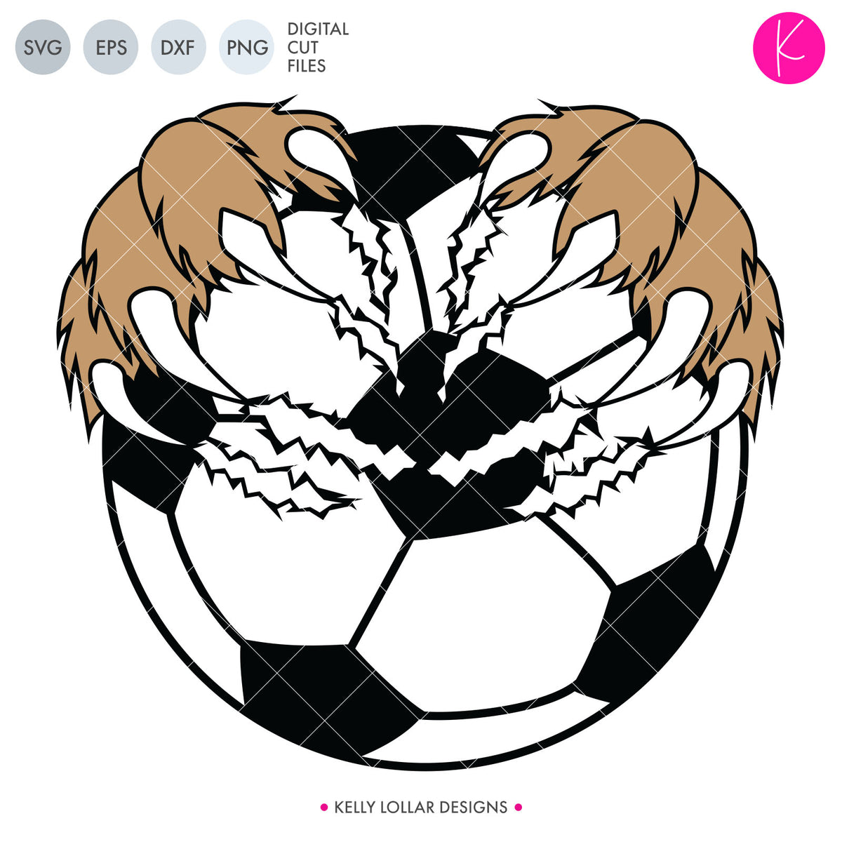 Soccer Ball with Claws | SVG DXF EPS PNG Cut Files