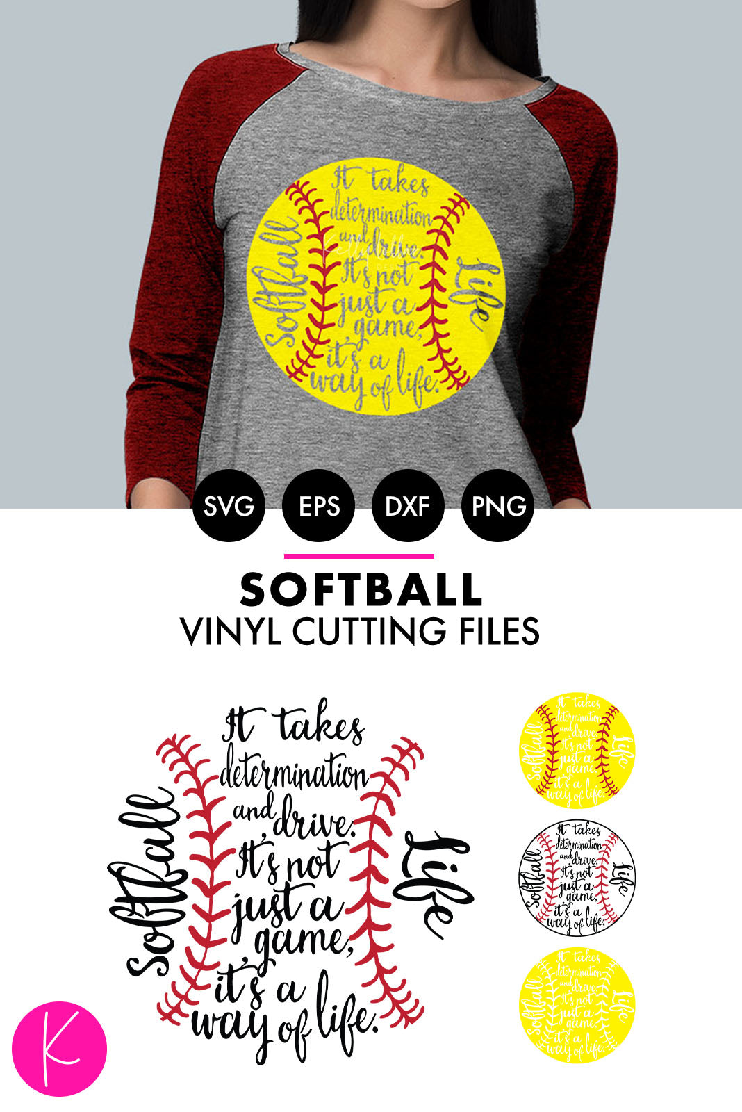 Softball Life | SVG DXF EPS PNG Cut Files