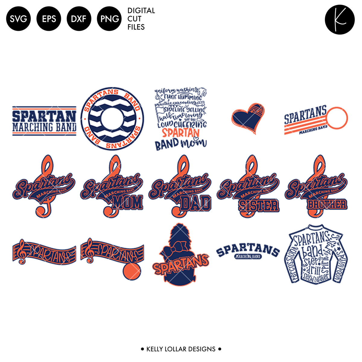 Spartans Everything Spirit Bundle | SVG DXF EPS PNG Cut Files