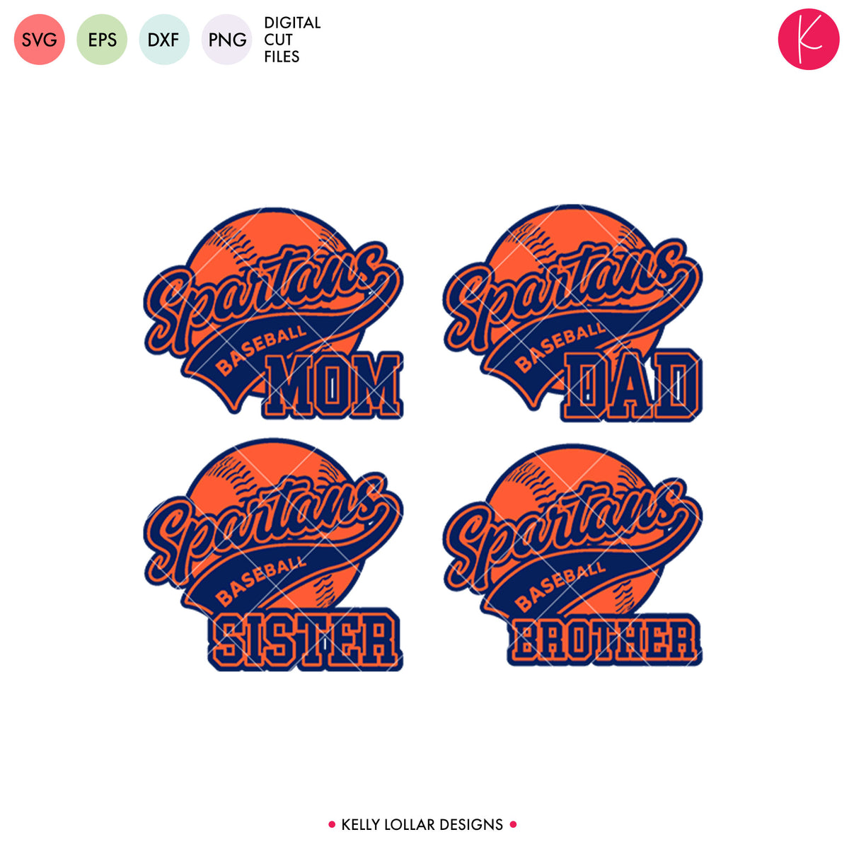Spartans Baseball & Softball Bundle | SVG DXF EPS PNG Cut Files