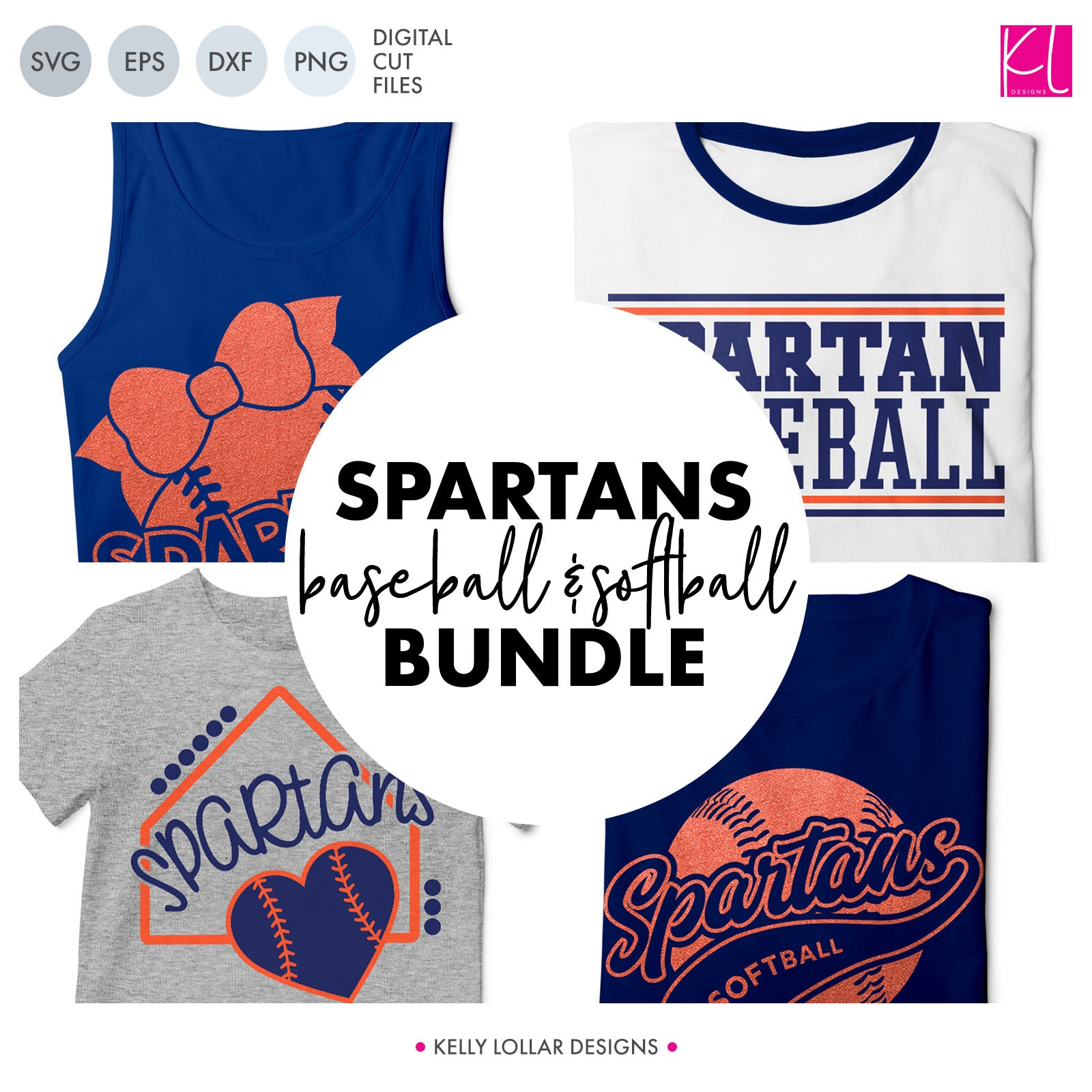 Spartans Baseball & Softball Bundle | SVG DXF EPS PNG Cut Files It's baseball and softball season, so Spartan crafter know what that means ... new spirit shirts! This fifteen-piece bundle includes a little something for everyone - from girly and cute