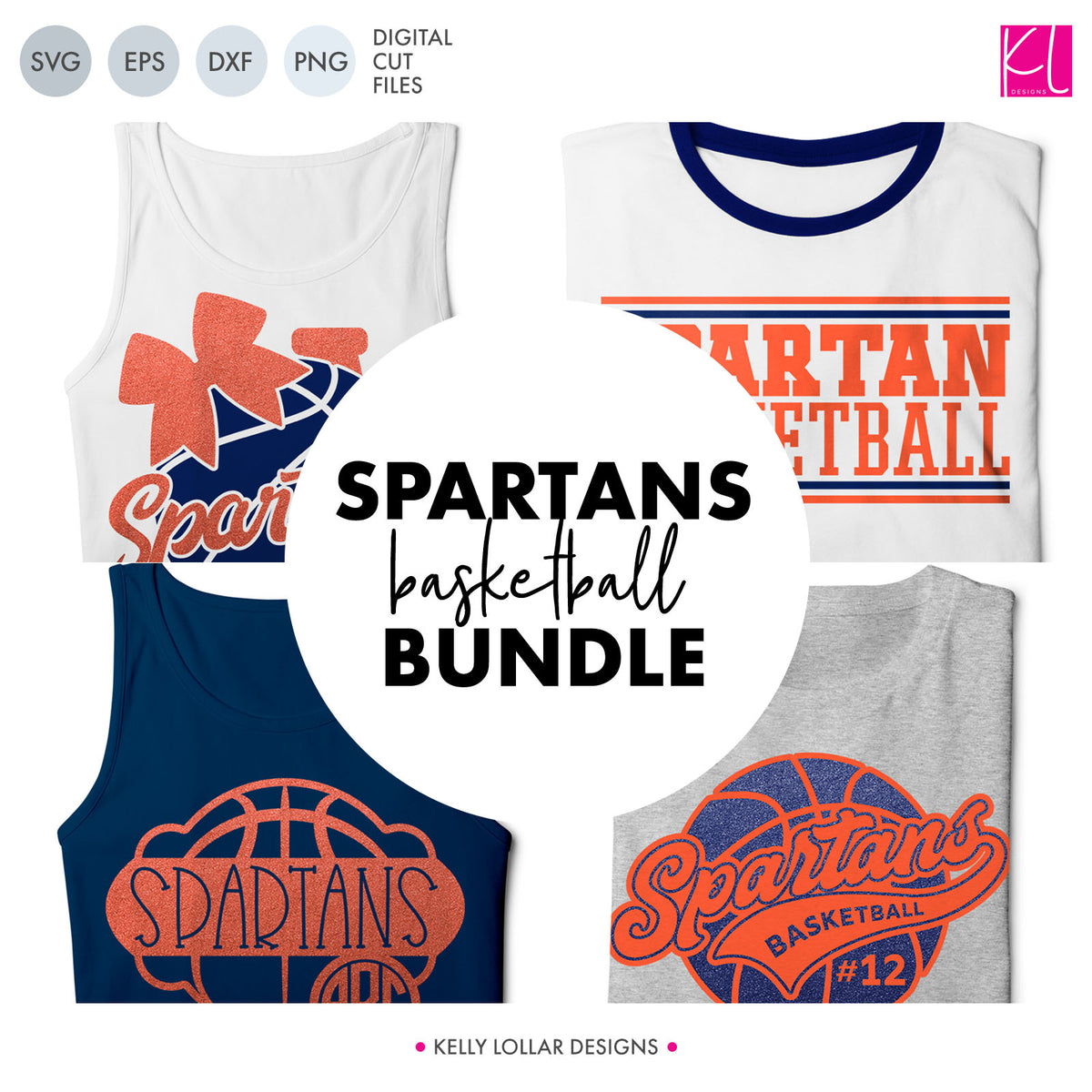Spartans Basketball Bundle | SVG DXF EPS PNG Cut Files