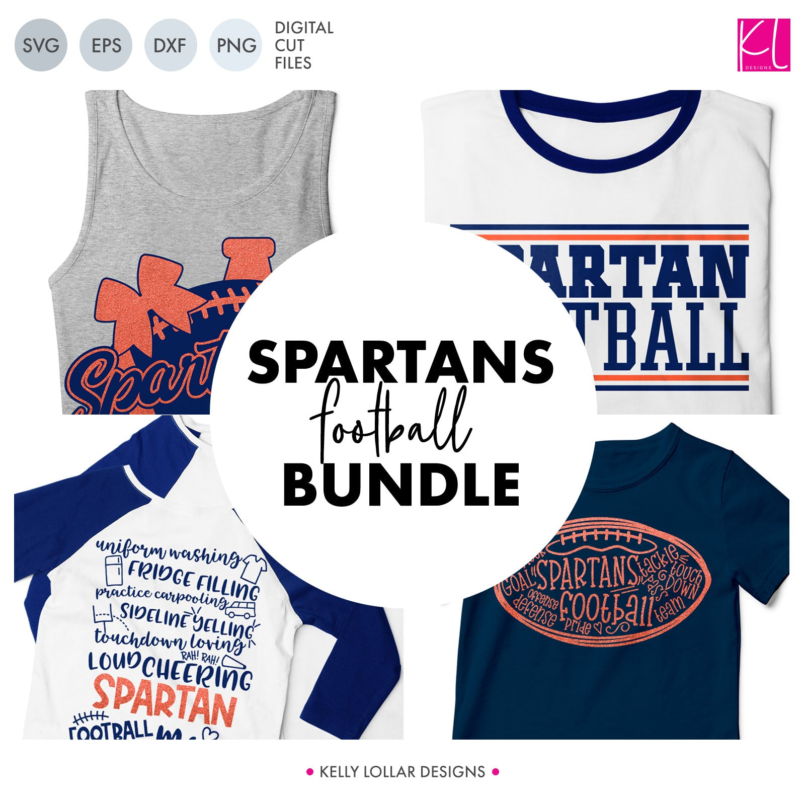 Spartans Football Bundle | SVG DXF EPS PNG Cut Files This fifteen piece Spartan Football Bundle was created with school crafters in mind. Create an assortment of spirit shirts with choices ranging from family designs to monograms to classic. 15