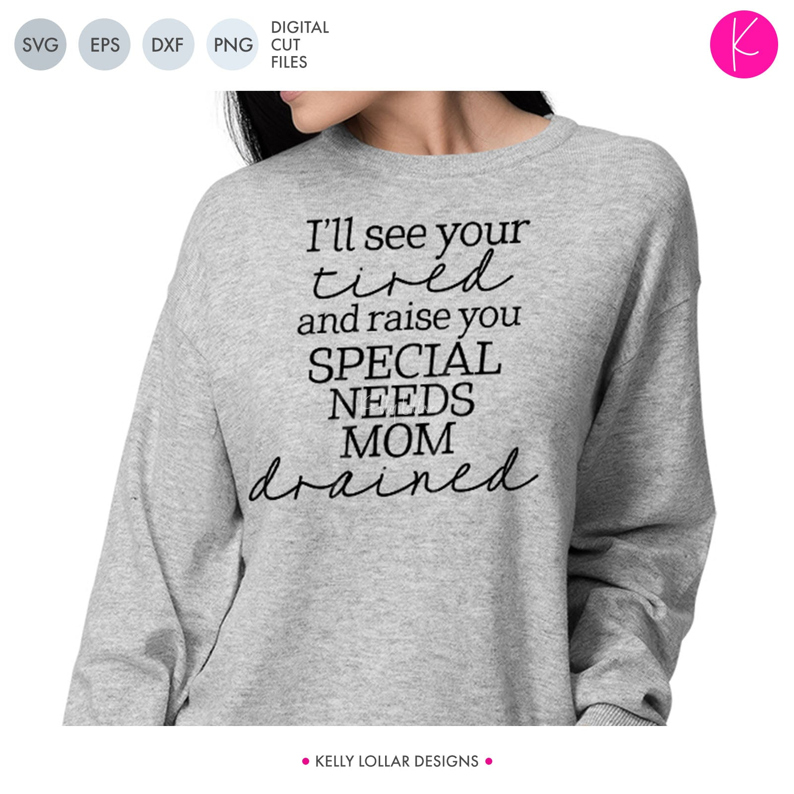 Special Needs Mom Tired | SVG DXF PNG Cut Files Neuro-diverse Mom Quote for Autism, SPD, ADHD, ODD and other awareness shirts | SVG DXF EPS PNG Cut Files Y'all, remember those days before you had kids when you thought you