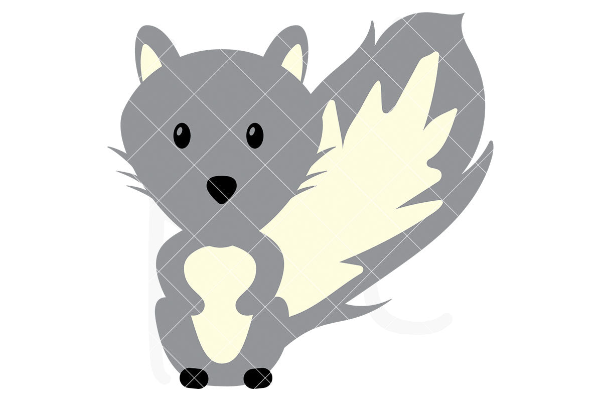 Squirrel svg file with 3 layers - also part of the Woodland Animal svg bundle
