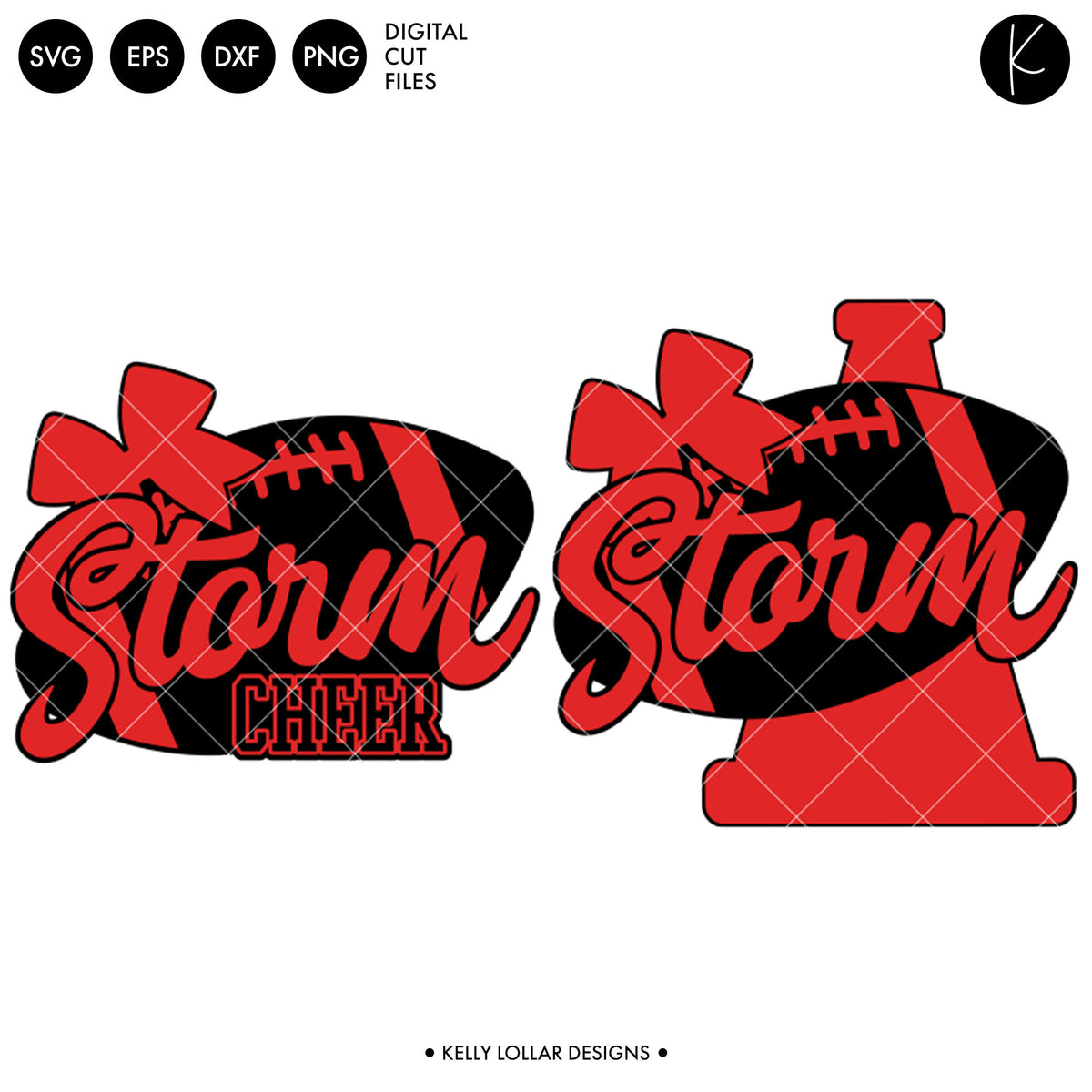 Storm Football Cheer | SVG DXF EPS PNG Cut Files